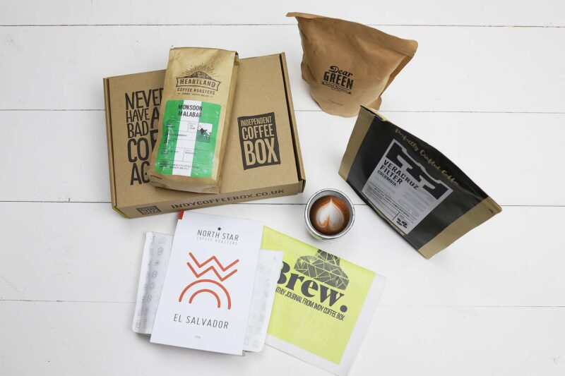 Filter four bag coffee box subscription