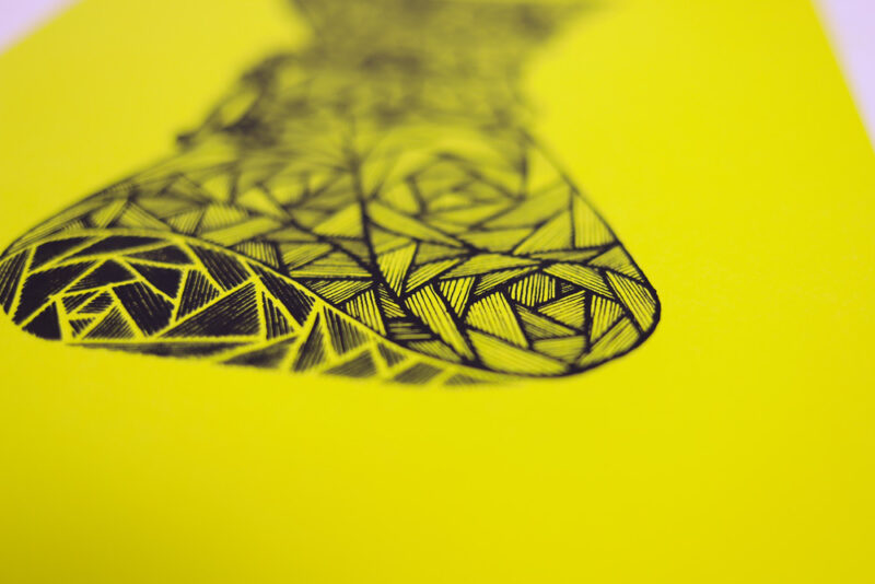 chemex screen print close up