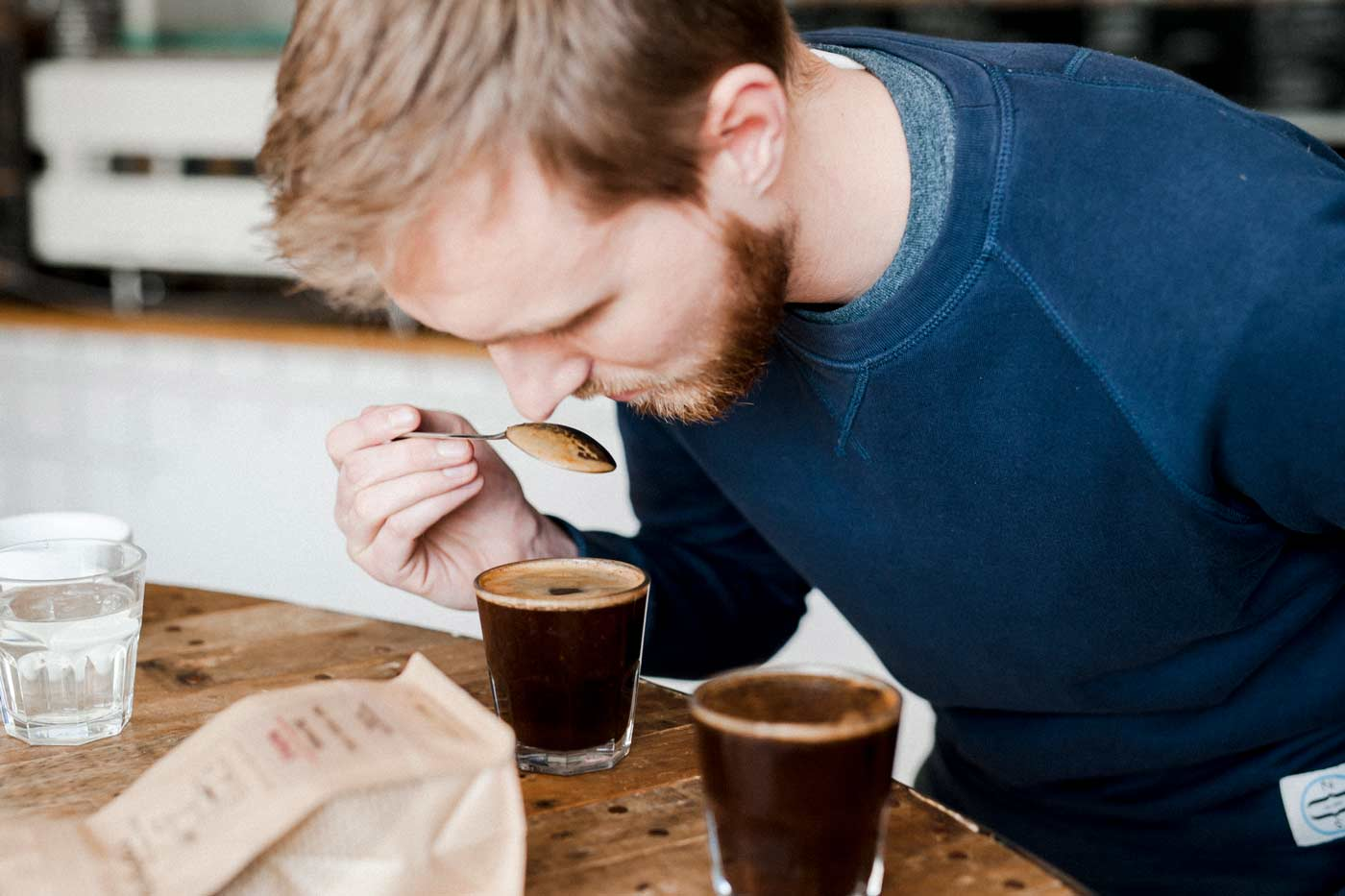 coffee cupping at The Missing Bean